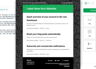 Mailer Lite - RSS to newsletter