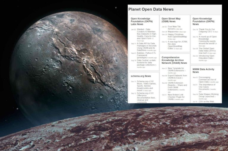 Pluto: an open source « planet site » generator feeded by RSS