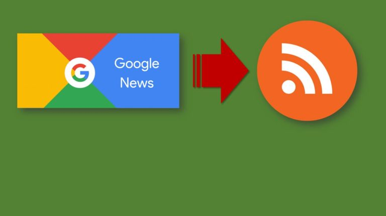 URL format for Google News RSS feed