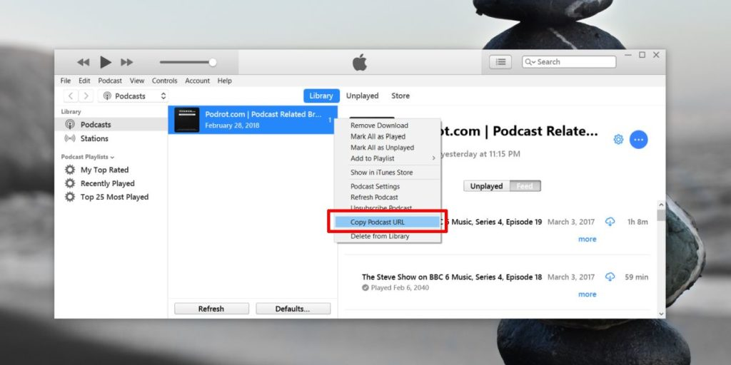 Podcast URL iTunes